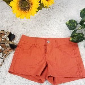 Maurices hot short size 3/4 Orange